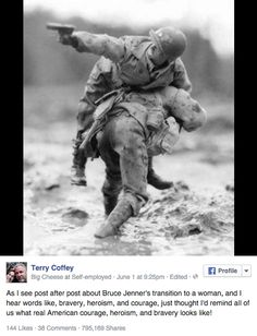 """Guy Criticizes Caitlyn Jenner's """"Bravery""""; Gets A Big Heaping Serving Of Irony"""