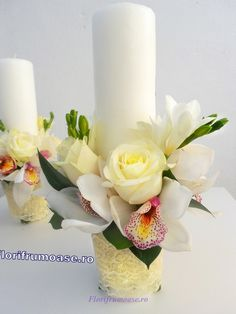 See related links to what you are looking for. Candels, Pillar Candles, Wedding Bouquets, Wedding Flowers, Christening, Diamond Engagement Rings, Flower Arrangements, Our Wedding, Decorative Fireplace