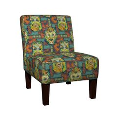 Maran Slipper Chair featuring MID CENTURY GRUNGE TIKI by paysmage | Roostery Home Decor