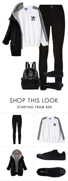 """""""Untitled #752"""" by ayalikeschicken ❤ liked on Polyvore featuring Paige Denim, adidas Originals and Converse"""