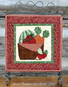 """June- Little Quilts Squared Again! patterns by The Wooden Bear! These are 12"""" x 12"""" and work great on our 12x14 tabletop stands.  Mix and match with our original 12 Little Quilts Squared patterns!"""