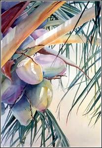 awesome tropical free wall art design and decor ideas 18 Watercolor Fruit, Watercolor Artists, Watercolor Techniques, Watercolor Illustration, Watercolour Painting, Watercolor Flowers, Painting & Drawing, Painting Lessons, Watercolor Portraits