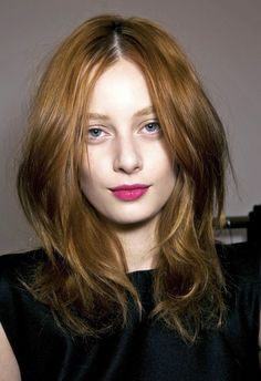 Le Fashion Blog Beauty Inspiration Bright Fuchsia Pink Lips Glossy Lipstick Model Red Hair Backstage photo Le-Fashion-Blog-Beauty-Inspiration-Bright-Fuchsia-Pink-Lips-Glossy-Lipstick-Model-Red-Hair-Backstage.jpg
