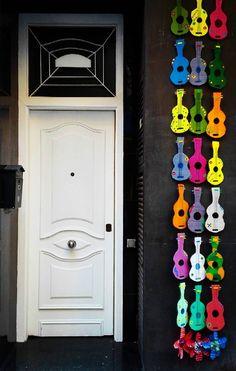 door in Barcelona, Spain