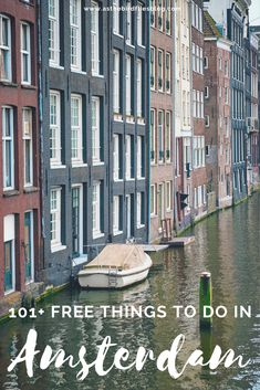 The ultimate list of best free things to do in Amsterdam if you're looking for some interesting, fun free Amsterdam things to do indoors or outdoors, at any time of the year, and for all ages. Enjoy all the Amsterdam free stuff! Top Europe Destinations, Travel Europe Cheap, Europe Travel Guide, France Travel, European Travel, Travel Guides, Budget Travel, Amsterdam Travel Guide, Visit Amsterdam