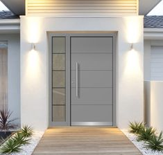 Front doors picture gallery, references - Lilly is Love Modern Entrance Door, Main Entrance Door Design, Modern Exterior Doors, Modern Front Door, House Front Door, Front Door Design, House Entrance, Exterior Design, Entrance Doors