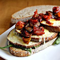 Grilled Eggplant Subs with Fontina and Tomato Jam | Joanne Eats Well With Others