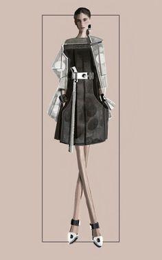 """Circles"" Sketch   Stefania Belmonte   my collection   Fashion Illustration"