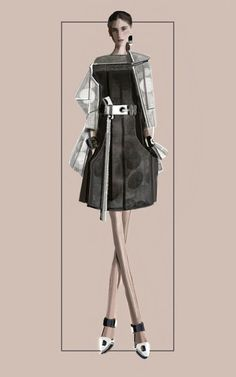 """Circles"" Sketch | Stefania Belmonte | my collection | Fashion Illustration"