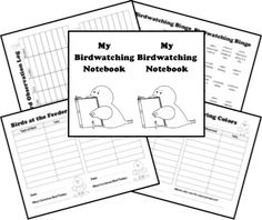 A bird journal with printable pdf page template, including