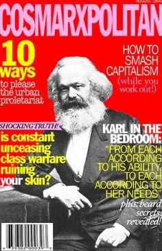 Karl Marx, uprooted on Cosmopolitan:)