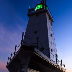 Ludington Lighthouse at Twilight