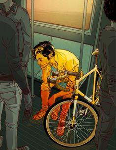 The Ride (2009) Art Print by matt taylor