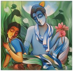 Buy Romance Romance Modern Artwork Painting at Lowest Price by Roja Lawrence African Art Paintings, Modern Art Paintings, Modern Artwork, Krishna Painting, Madhubani Painting, Painting Corner, India Painting, Nature Drawing, Indian Artist