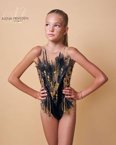 Teen Fashion Outfits, Kids Fashion, Rhythmic Gymnastics Costumes, Gym Leotards, Black Leotard, Exercise For Kids, Costume Accessories, Dance Costumes, Dance Wear