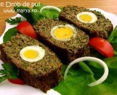 drob de pui, My Favorite Food, Favorite Recipes, Romanian Food, Romanian Recipes, Meatloaf, Delish, Good Food, Goodies, Food And Drink