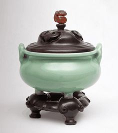 Céladon Censer - China - Qing Dynasty
