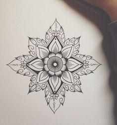 cute henna flower