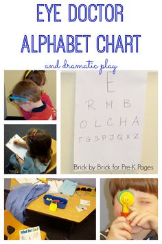 Eye Doctor Alphabet Chart and Dramatic Play Activity