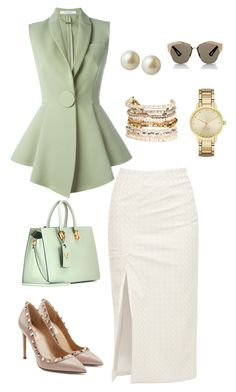 """Look Work Chick #18"" by ccarmemlucia ❤ liked on Polyvore featuring Walk of Shame, Givenchy, Carolee, Valentino, Panacea, Kate Spade and Christian Dior"