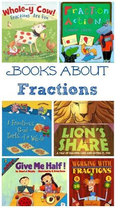 Fractions: Kids Books & Hands-on Math Activities -- great for kids who like to read but don't like math!Learning Fractions: Kids Books & Hands-on Math Activities -- great for kids who like to read but don't like math! Fraction Activities, Fun Math Activities, Hands On Activities, Math Games, Math Resources, Fraction Games, Math Classroom, Kindergarten Math, Teaching Math