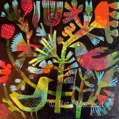 """'Joy' Acrylic on canvas. Este Macleod 16x16"""""""