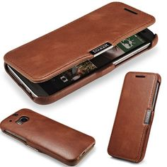 MOQ 1pc For New HTC One M8 Original icarer Brand genuine Leather natural skin cover magnet wallet Case For HTC M8 card holder