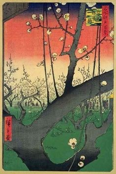 浮世絵 Hiroshige woodblock print