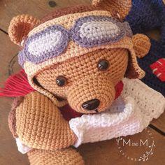 Melly Teddy Ragdoll Pilot Bear   MandMCrochetDesigns Crochet Dolls, Crochet Baby, Aviator Hat, Bonnie Clyde, Lovey Blanket, Last Stitch, Single Crochet Stitch, Yarn Over, My Face Book