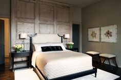 HGTV: Designer Ani Semerjian created a serene, nature-inspired master bedroom retreat through the use of natural materials and soft, neutral fabrics. Wood Bedroom, Master Bedroom Design, Bedroom Ideas, Bedroom Inspiration, Master Suite, Master Master, Bedroom Rustic, Bedroom Black, Bedroom Decor