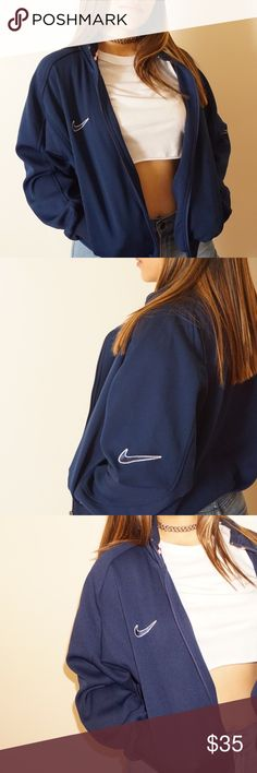 d901ebfb7d023 Vintage Nike Jacket Navy blue VINTAGE Nike Jacket! In beautiful condition!  Nike Jackets Coats