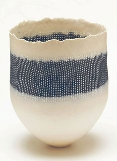 cheryl malone art | CHERYL MALONE / STRATIFIED VESSEL WITH COBALT / COILED PORCELAIN / 25 ...