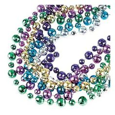 Get ready for your Mardi Gras or masquerade Prom with this 44 in. Disco Ball Beads. Use these beaded necklaces as fun Prom favors or unique decorations for your next event. Assorted colors. 6 bead necklaces per package.