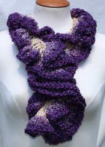 Purple Ombre #crochet scarf