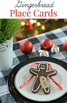 Gingerbread Place Card. Great for holiday gatherings!