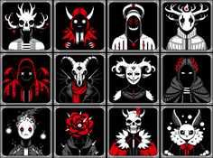 """""""de-stressed with some misc front-facing portraits~"""" Fantasy Concept Art, Game Concept Art, Horror Maze, Game 2d, Art Business Cards, Cool Illusions, Pixel Art Games, Picture Icon, Psychedelic Art"""
