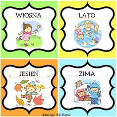 Seasons Of The Year, Four Seasons, Weather For Kids, Polish Language, Kindergarten Classroom, Montessori, Free Printables, Preschool, Nursery