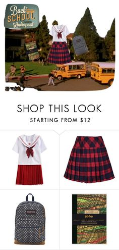 """back to school :3"" by herrerialaesperanza on Polyvore featuring moda, JanSport y polyvorefashion"