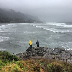 Fishing in Yachats.
