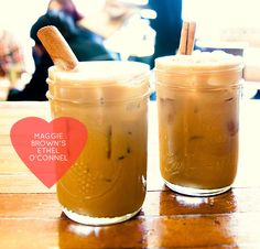 A delicious Valentine drink recipe from Maggie Brown restaurant in Brooklyn, inspired by Max & Daniel's first date <3