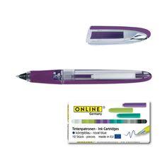 สินค้ามาใหม่ ราคาพิเศษ Online Pen Germany ปากกา รุ่น Rollerball Online Air (Violet)   หมึกหลอด1 เเพ็ค (1x12)(Blue) ราคาไม่แพง พร้อมส่ง เก็บเงินปลายทาง