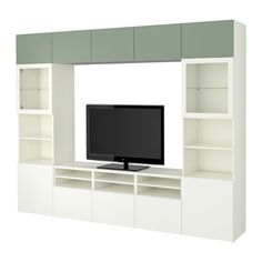 BESTÅ TV storage combination/glass doors IKEA