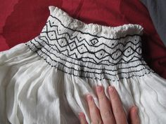 Beautiful German chemise details and pattern instructions.