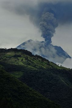 "Volcan Tungurahua, Banos, Ecuador.  Eruption began Nov 27, 2011 and continued for 10 days.  After a period of calm, ""Mama tungurahua"" started erupting again Dec 2011 // photo and essential text by Len Langevin"