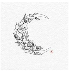 Moon Tattoo Designs, Small Tattoo Designs, Flower Tattoo Designs, Tattoo Designs For Women, Flower Tattoo Drawings, Lower Back Tattoo Designs, Inspiration Tattoos, Small Flower Tattoos, Small Tattoos