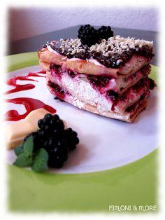 Brombeer-Lasagne mt weißer Schokolade Tuna, Sandwiches, Fish, Meat, White Chocolate, Lasagne, Baking, Food Food, Rezepte