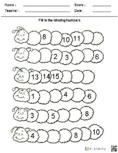 Kindergarten Math Worksheets  | followpics.co