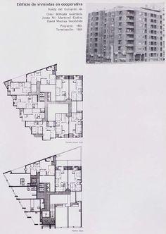 Edificio de viviendas en cooperativa Ronda del Guinardó, 44 Oriol Bohigas Guardiola Josep M.a Martorell Codina David Mackay Goodchild Proyecto: 1961 Terminación : 1964