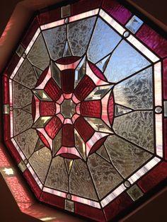 Stained glass window in Pemberley hallway. Stained Glass Designs, Stained Glass Panels, Stained Glass Projects, Stained Glass Patterns, Leaded Glass, Beveled Glass, Stained Glass Art, Mosaic Art, Mosaic Glass