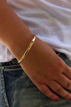 Gold bracelet Gold bangle Simple bangle bracelet by HLcollection Plain Gold Bangles, Mens Gold Bracelets, Gold Bangle Bracelet, Bridal Bracelet, Diamond Bracelets, Bridal Jewelry, Jewelry Bracelets, Engraved Bracelet, Gold Necklace